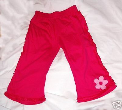 Pink trousers with applique flower, age 6 approx