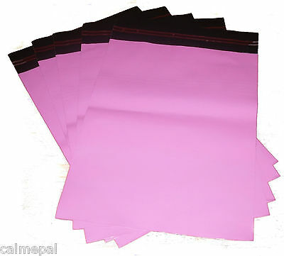 "PINK POSTAL POST MAIL MAILING BAGS 50 x SIZE 10"" x 14"""