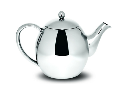 NEW SABICHI 1200ml DOUBLE WALL TEAPOT STAINLESS STEEL