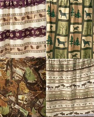 50 x 60 PRINTED FLEECE Throws LAB FOREST or 3D Seclusion CAMO Camouflauge * NEW
