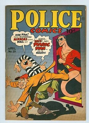 Police #29 April 1944 VG/FN Plastic Man, Spirit