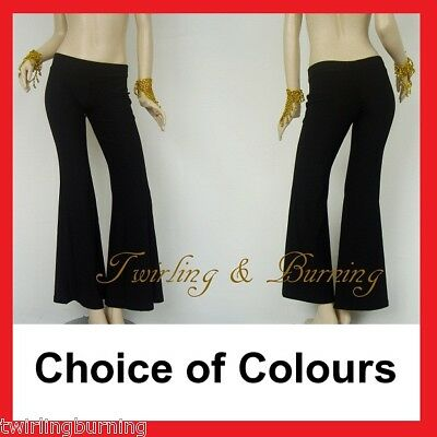 AU Size 6-18 Belly Dance/Yoga Practice Pants Bell Bottom Stretchy Material AP01