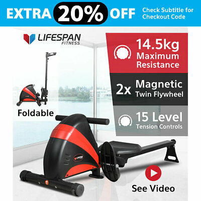 Lifespan Latest Rowing Exercise Machine Fitness Rower Gym