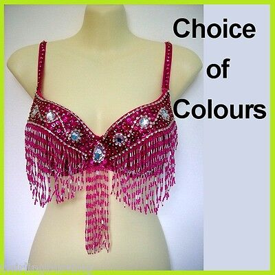 Belly Dance Beaded Bra Sequin Top Samba Dancing Costume AR01