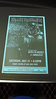 AUTHENTIC 1998 Iron Maiden Ed Hunter Tour Poster Flyer Ad SOULFLY