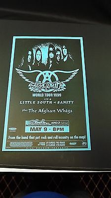 Genuine 1999 AEROSMITH World Tour Music Concert Poster Flyer Ad W/ AFGHAN WHIGS