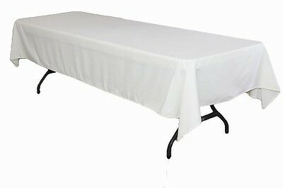 25 Pack 60×126 Seamless Polyester Tablecloths 18 Colors