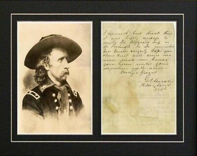 Gen GEORGE ARMSTRONG CUSTER Civil War Signature Letter