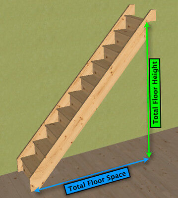 Pine   Straight Staircase