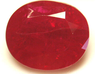 21.5x18 mm 39 cts oval cut Diffusion lab created Ruby