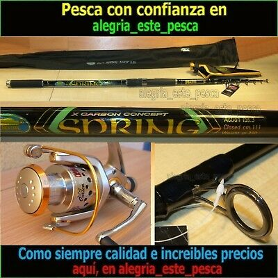 EQUIPO PESCA SPINNING SPRING 3.60mts + PHOENIX RD50