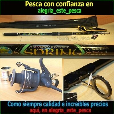 EQUIPO PESCA CARP FISHING SPRING 3.60mt + FLASH RUNNER