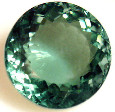 25.7 cts 20 mm Round Green Cultured Quartz