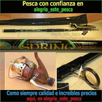EQUIPO PESCA SPINNING SPRING 3.60mts + ROYAL 400