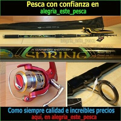 EQUIPO PESCA SPINNING SPRING 3.60mts + DEVIL II 60F