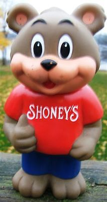 Shoney's Restaurant Mascot Bear Advertising Bank 1993