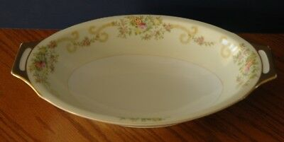 Vintage Hand Painted Flowers Meito Large Vegetable Dish