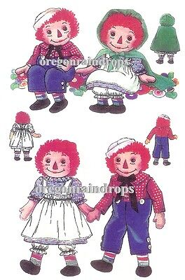 1940s Raggedy Ann Andy Green Cape Doll Pattern Vintage
