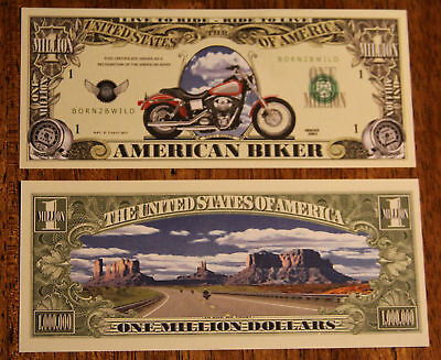 AMERICAN BIKER  Harley Collectable Currency $1,000,000