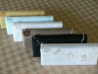 New Large Satin Bridal/Evening Clutch Purse Handbag