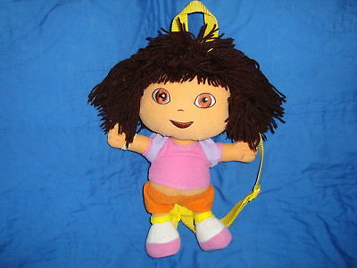 2004 Dora The Explorer Plush Backpack Yarn Hair 14""