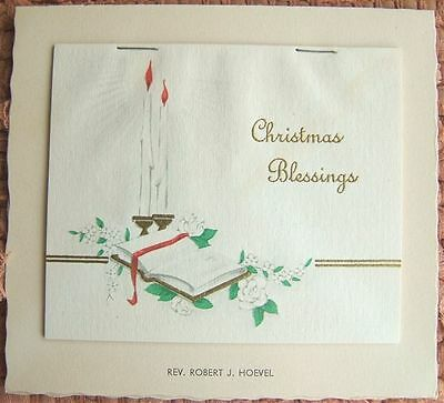 Vintage CHRISTMAS BLESSINGS Desk Top Calendar 1951 CHURCH Promotional