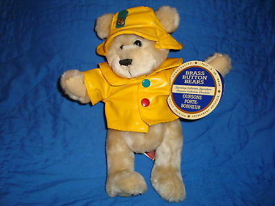 1996 Brass Button Bear Harper The Bear of Health 11""