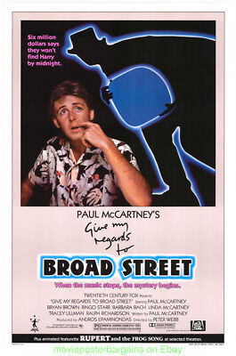 Give My Regards To Broad Street Movie Poster Beatles