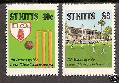 ST KITTS 1988 CRICKET ASSOCIATION ANNIV 2 Values MNH