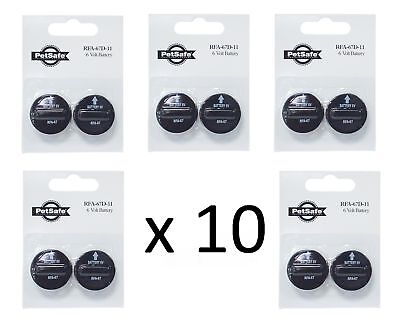 10 x RFA67 GENUINE PETSAFE BATTERIES ANTI BARK & FENCE COLLAR BATTERY RFA-67