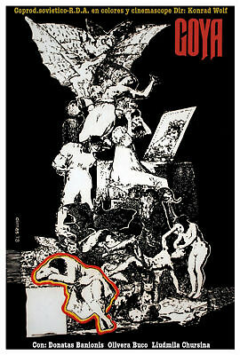 1110.Unusual movie POSTER.Powerful Graphic Design.Ear with Eye.Room art Decor