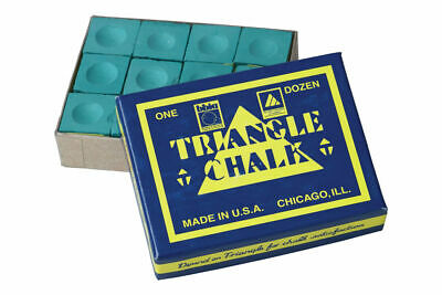 12 Pieces BOX SPRUCE Genuine Triangle Snooker or Pool Cue Chalk - by Tweeten USA