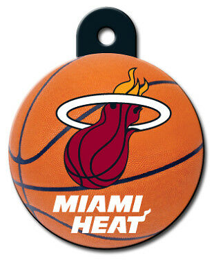 Officially Licensed NBA Miami Heat Round Pet Tag