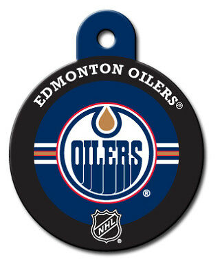 Officially Licensed NHL Edmonton Oilers Round Pet Tag