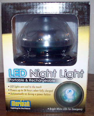 Meridian LED NIGHT LIGHT - Portable & Rechargeable!