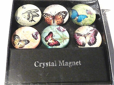 Objet de Collection Magnets Aimants crystal Papillons