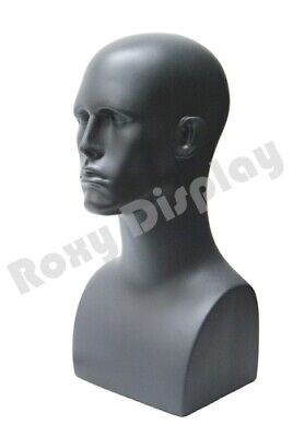 Male Fiberglass Mannequin Head Bust Wig Hat Jewelry Display #EraG