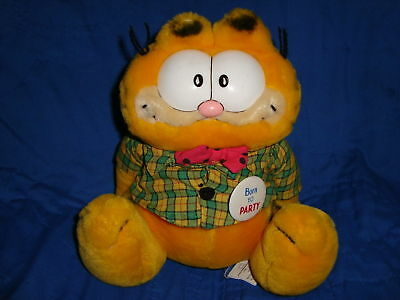 1981 Dakin Garfield Born To Party Vintage Plush 9""