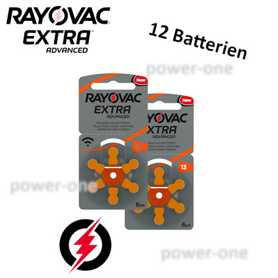 12 x Hörgerätebatterien Typ 13 Rayovac Extra Advanced 7,9 x 5,4 mm