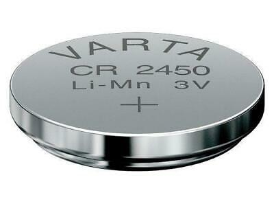 2x VARTA CR2450 Lithium Markenbatterien CR 2450 NEU ø24x5,0mm
