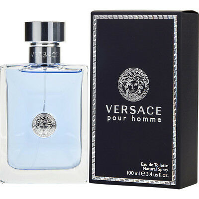 VERSACE POUR HOMME 100ml EAU DE TOILETTE SPRAY FOR MEN BY VERSACE -- EDT PERFUME