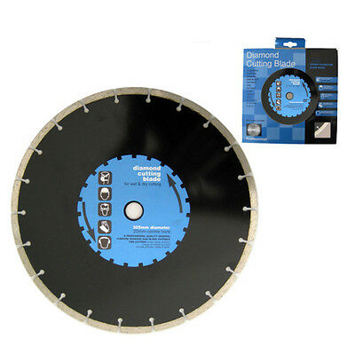 "300mm 12"" DIAMOND CUTTING BLADE DISC BLACK"