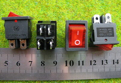 SW11 10pcs Miniature Rocker Switch With Light ON-OFF