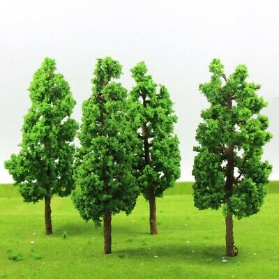 G17055 4pcs Train Layout Set Model Trees Scale G O 17cm