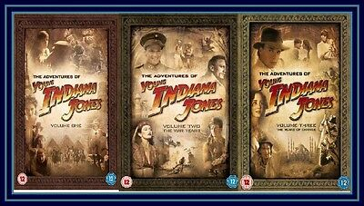 The Adventures Of Young Indiana Jones - Complete Volumes 1 2 & 3 **brand New Dvd