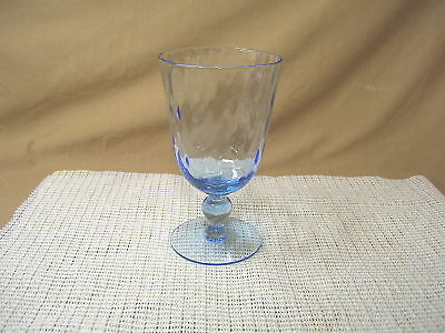Morgantown Early American Light Blue Water Goblet