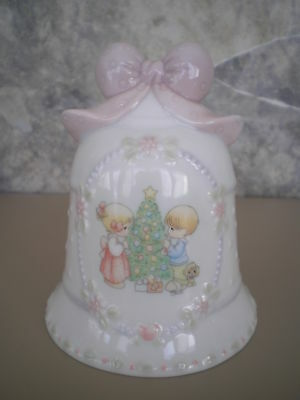 Precious Moments Porcelain Christmas Bell 1997 Avon
