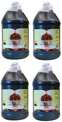 (4) ea Gold Medal 1223 Gallon Cherry Ready to Use Sno-Kone Snow Cone Syrup