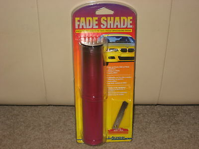 "NEW 8""x6' FADE SHADE WINDOW TINT STRIP AUTO WINDSHIELD RED BUY 2 GET 1 FREE"