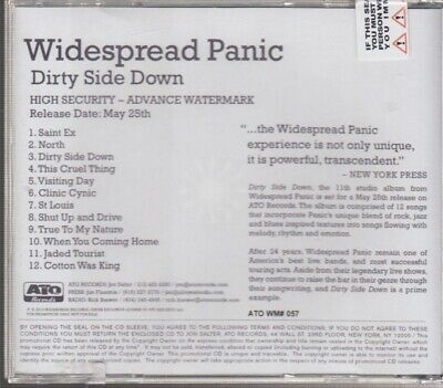 widespread panic dirty side down cd promo